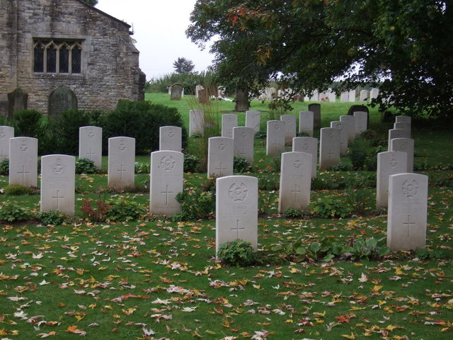 War graves, St.John the Baptist's Church, Scampton