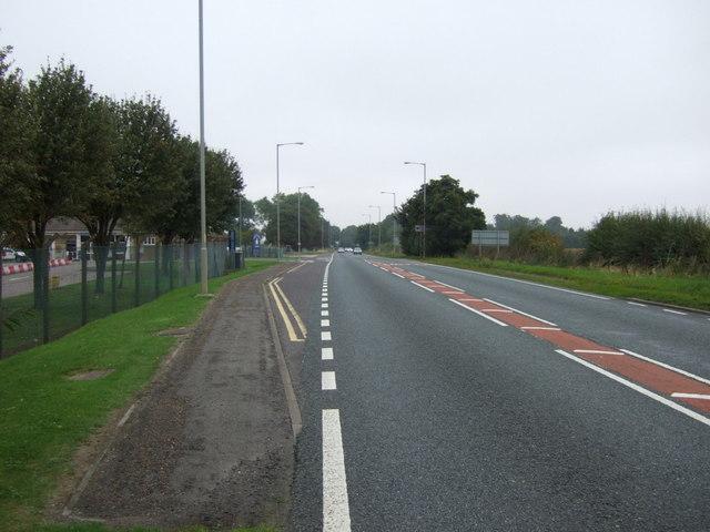 A15 heading north near RAF Scampton