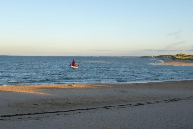 Boat in Alnmouth bay