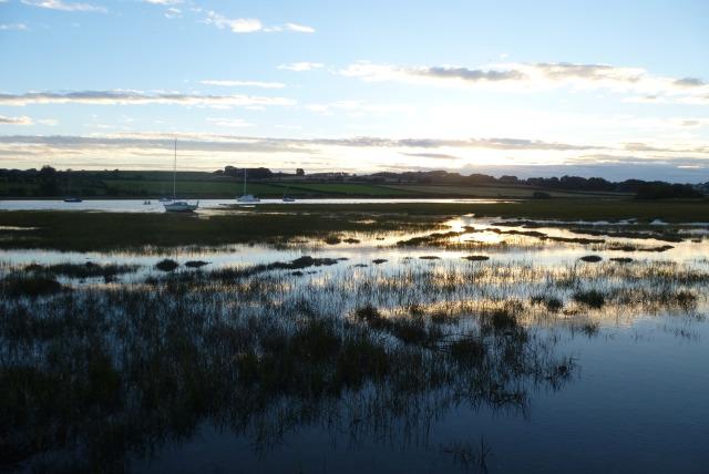 Sun setting over the estuary