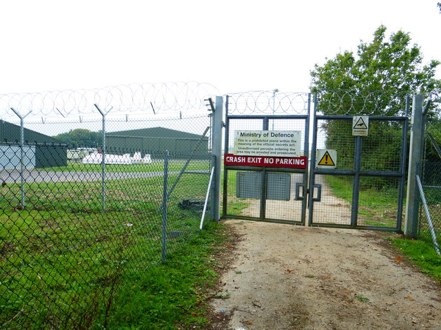 Gateway at crash exit from Odiham Airfield