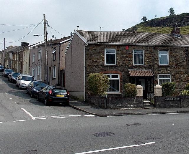 Corner of Cuckoo Street and Pant Street in Pant-y-Gog