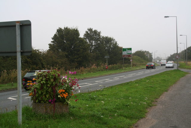 A158, old and new road at Langworth