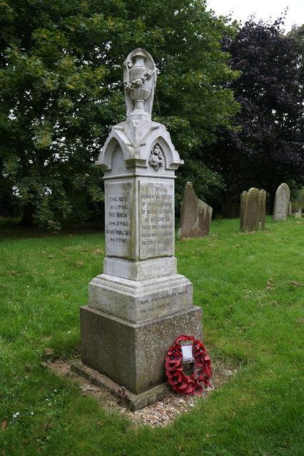 War Memorial at Holton le Clay