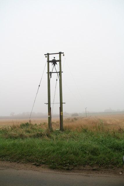 Powerlines off Heath Road, west of Scothern