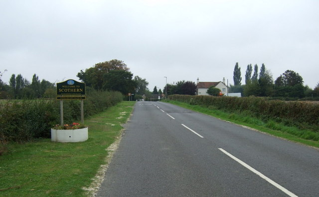 Entering Scothern
