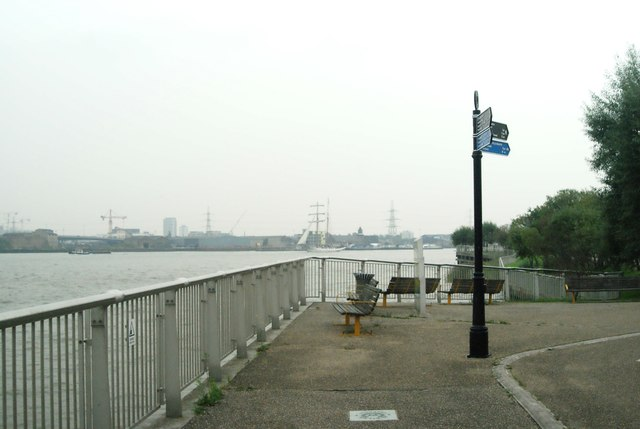 View of J.R.Tolkien rounding the corner into the Greenwich Peninsula