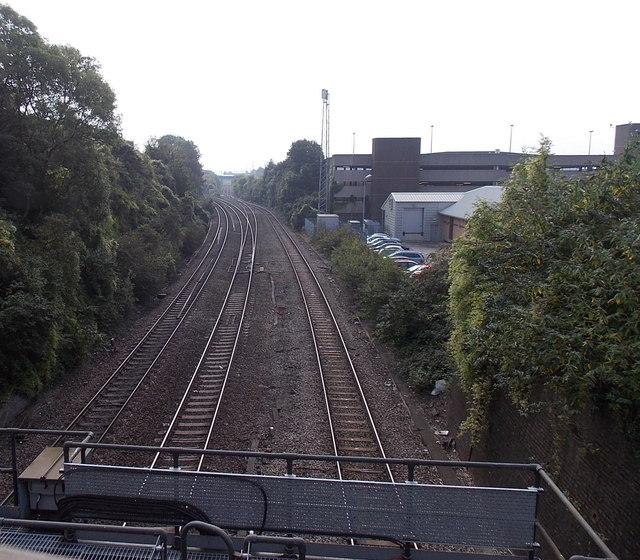 Railway junction SE of Bridgend railway station
