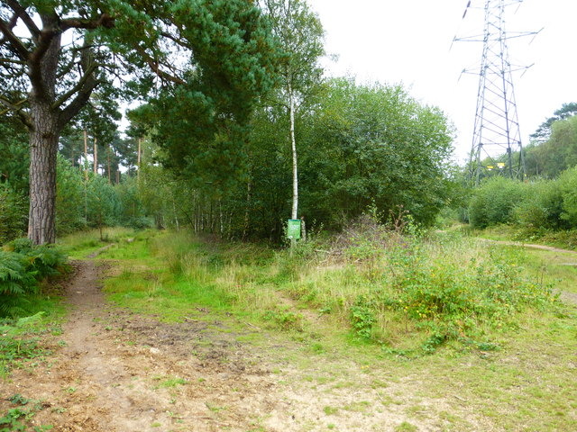 Bridleway moves away from pylon line