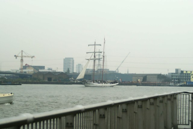 View of J.R.Tolkien rounding the corner into Greenwich Peninsula #2