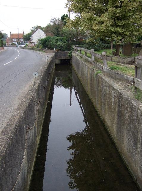Watercourse beside Main Street, Scothern