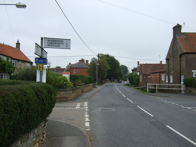 Road junction, Main Street, Scothern