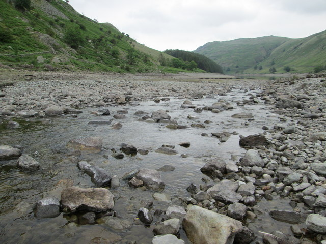 Crossing Mardale Beck at the head of Haweswater
