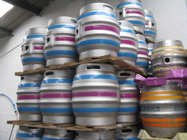 Casks at Blue Bee Brewery