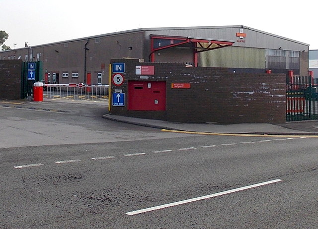 Bridgend Delivery Office entrance