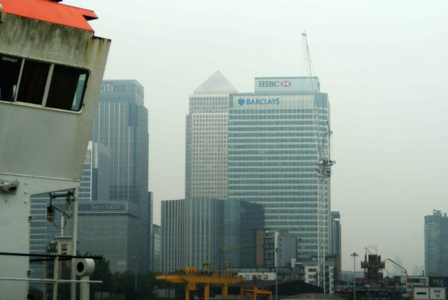 View of Canary Wharf from Greenwich Peninsula #2