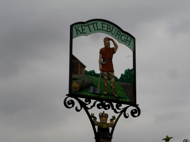 Kettleburgh village sign (detail)