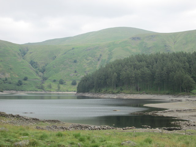 The wooded headland of The Rigg at Haweswater