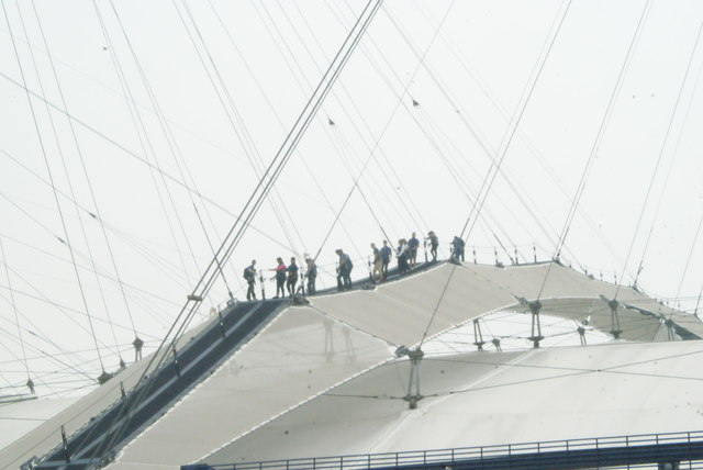 View of people on the Up at the O2 expedition