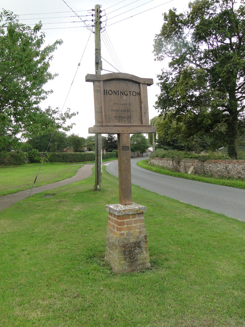 Honington village sign