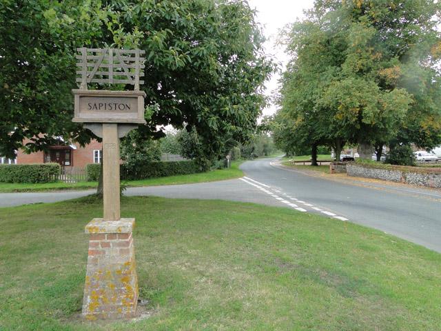 Sapiston village sign