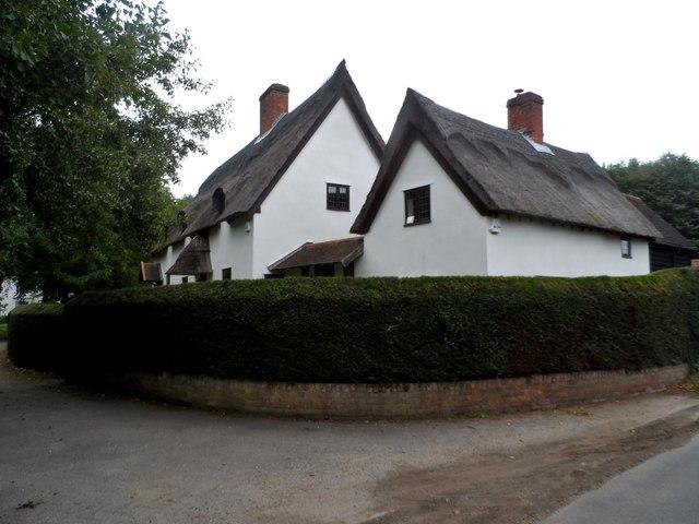 Cottages on Mill Lane near Kettleburgh
