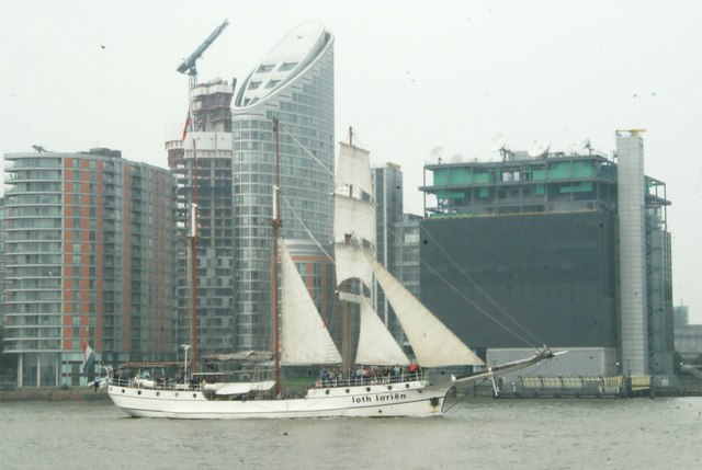 View of Loth Lorien passing New Providence Wharf
