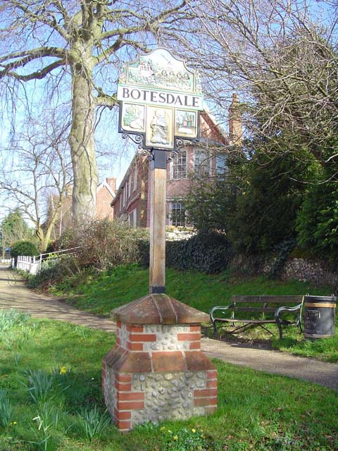 Botesdale village sign