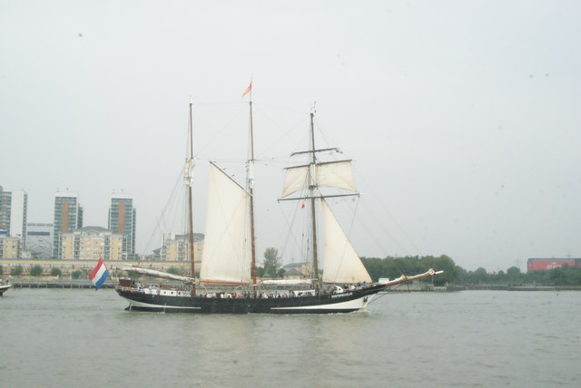 View of Oosterschelde passing Greenwich Peninsula