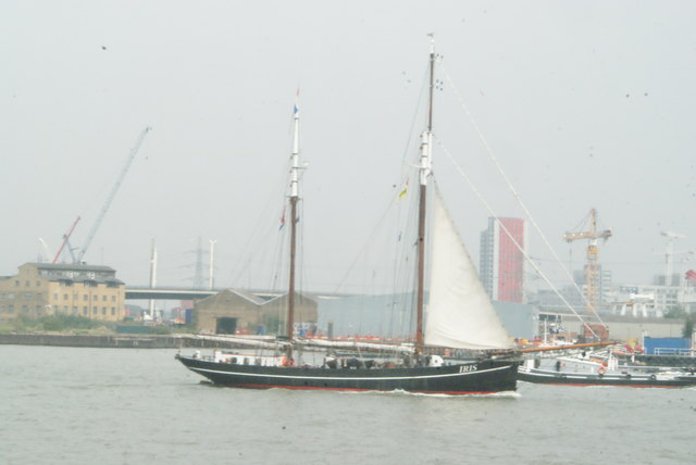 View of Iris passing the Bow Creek confluence
