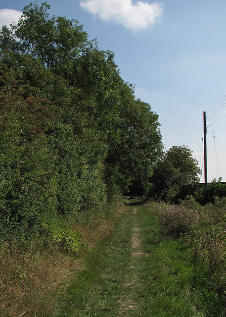 Haslingfield: footpath near Lesanna Farm