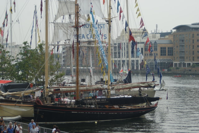 View of Tall Ships Festival vessels docked in Wood Wharf #4
