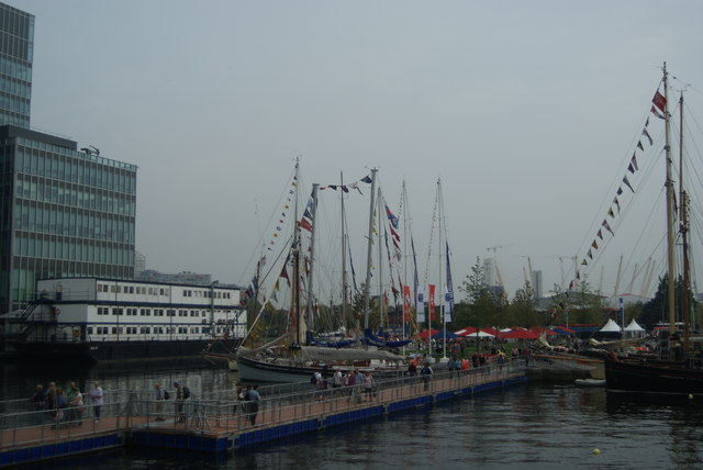View of Tall Ships Festival vessels docked in Wood Wharf #5