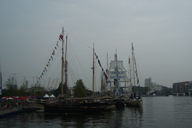 View of Tall Ships Festival vessels docked in Wood Wharf #6