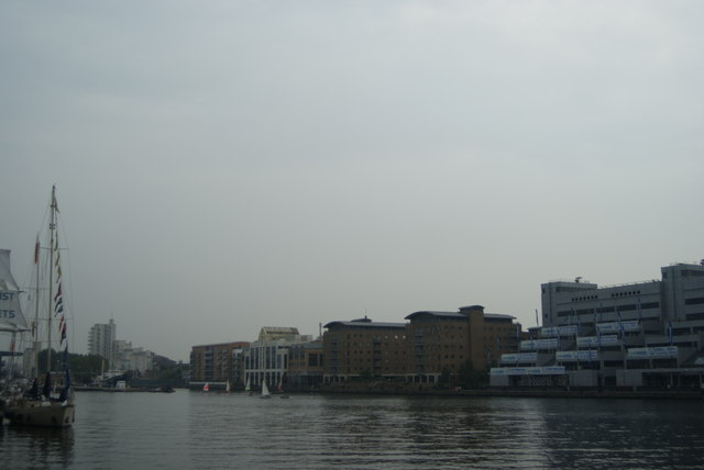 View of South Quay from Wood Wharf