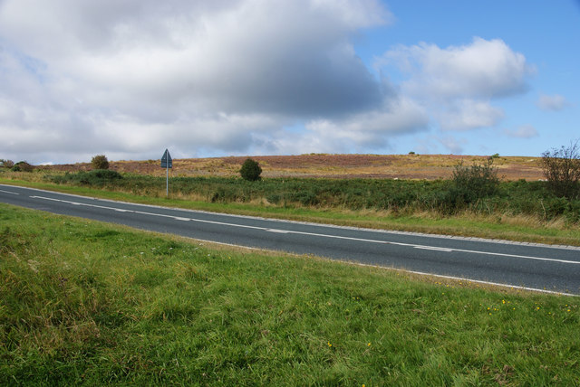 The A169 at the top of Blue Bank