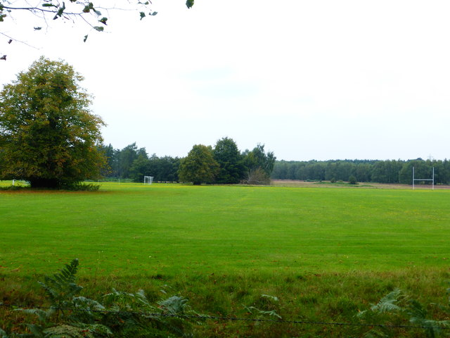 Assorted goal posts at Bramshill Park