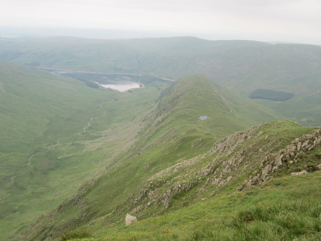 View looking down the Rough Crag ridge