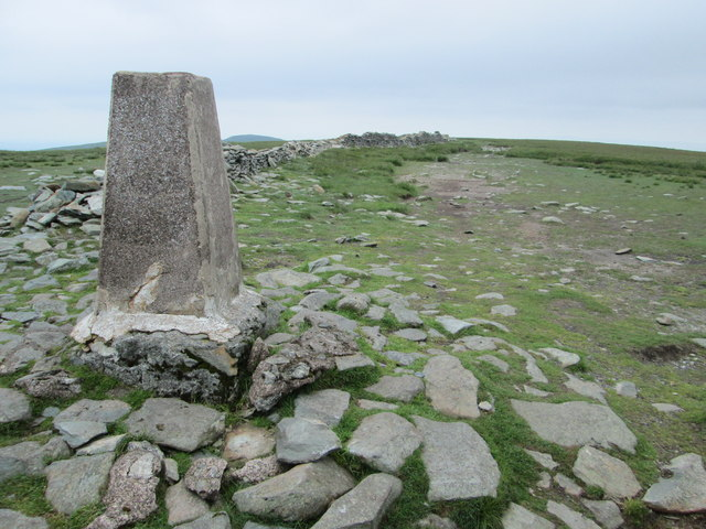 High Street summit trig point