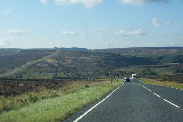 The A169 approaching Eller Beck