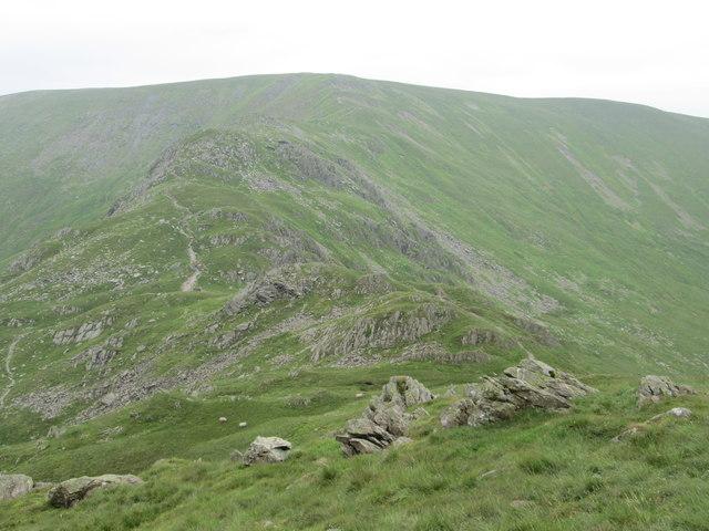 Harter Fell across the top of the Nan Bield Pass
