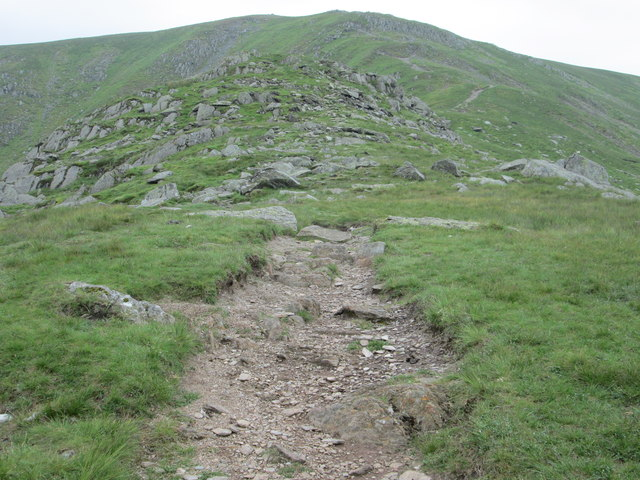 Path leading up Harter Fell above Mardale