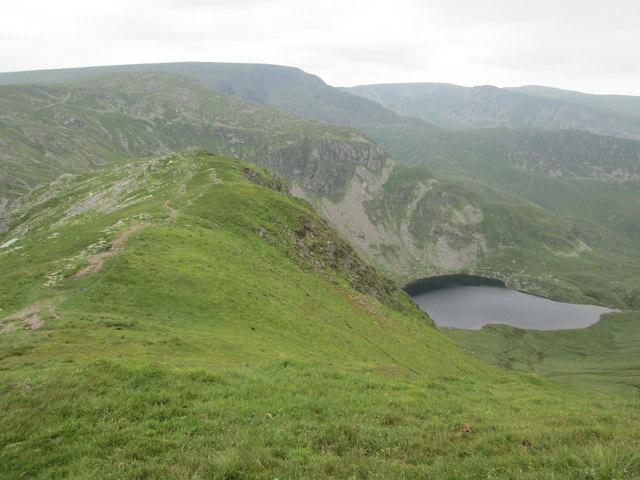 Ascending Harter Fell above Mardale