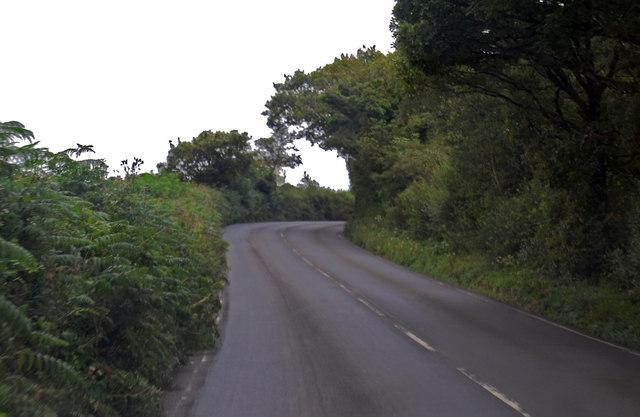 A3079 Holsworthy Road towards Thorndon Cross