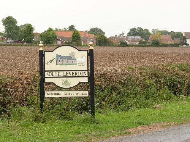 South Leverton village entrance sign