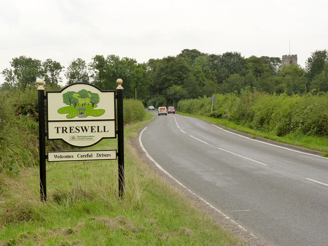 Treswell village entrance sign