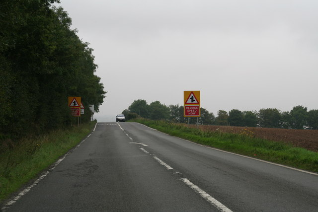 Till Bridge lane between Scampton airfield and the Lincolnshire Showground