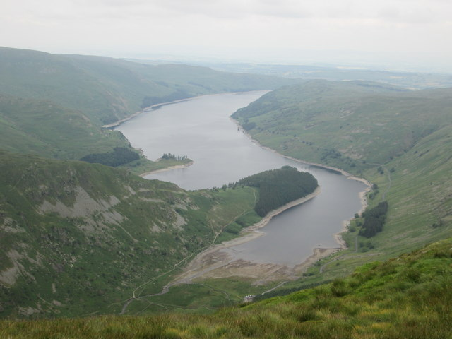Full length view of Haweswater from Harter Fell