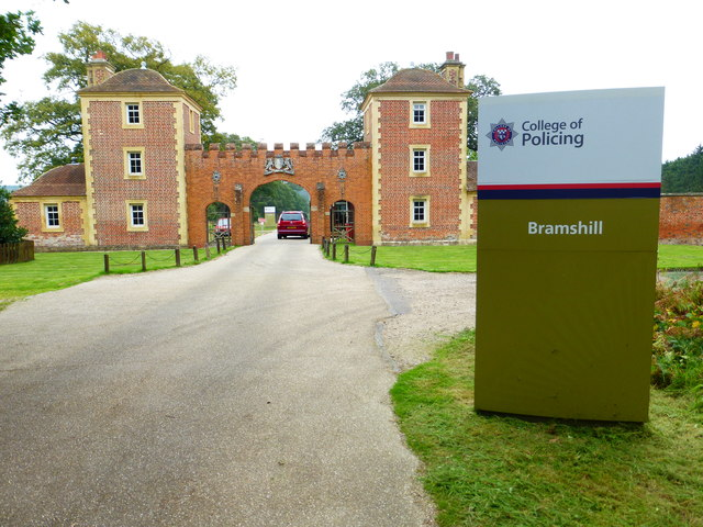 Entrance to Bramshill College at Double Lodge