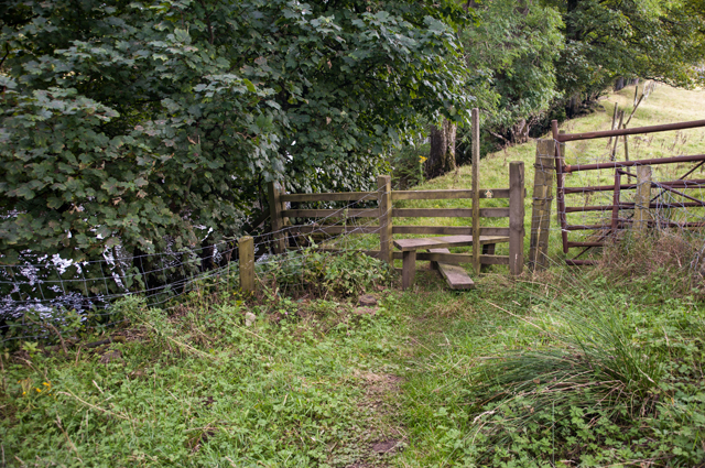 Stile on the Mossdale footpath